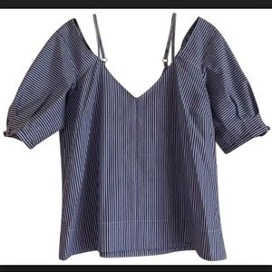 Derek Lam 10 Crosby Blue & White Stripe blouse